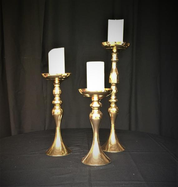 "9-Sets Available Including: 1-12.5"", 1-15.5"", & 1-21"" w/3-6"" Ivory Flickering Flameless LED Candles.