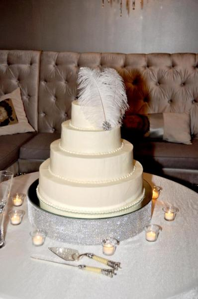 Brides cake at the Alley Station