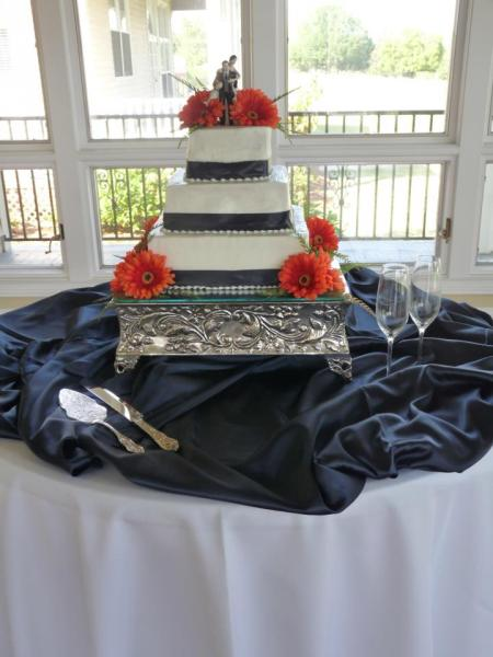 Brides cake with Orange Gerbers